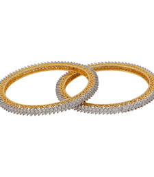 Buy Designer Baguette Setting Bangle Set bangles-and-bracelet online