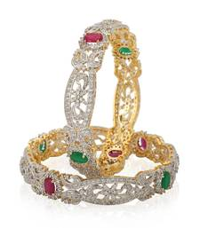 Buy Designer Floral Bangle Set bangles-and-bracelet online