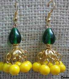 Buy Yellow_Green_Golden_Jhumka jhumka online