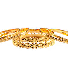 Buy Set of 6 Cut work Gold plated Bangles bangles-and-bracelet online