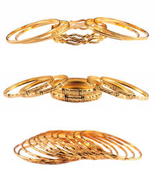 Buy Collection Combo Of Gold Plated Bangles Combo bangles-and-bracelet online