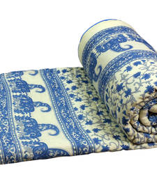 Handblock floralprint double bed jaipuri razai shop online