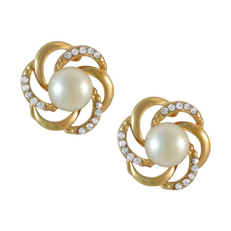 Brilliant Gold Stud Earrings Women  E4Jewelry