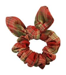 Buy Checked Red Fabric Hair Rubber Band for Women Other online