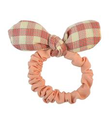 Buy Plain Peach Fabric Hair Rubber Band for Women Other online