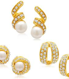 Buy Divine Gold Plated Alloy Set of Earrings Combo Earring online