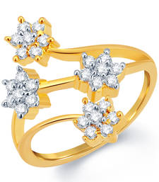 Buy Sparkling Gold and Rhodium Plated CZ Ring Ring online