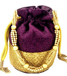 Buy Ethnic purple potli bag potli-bag online