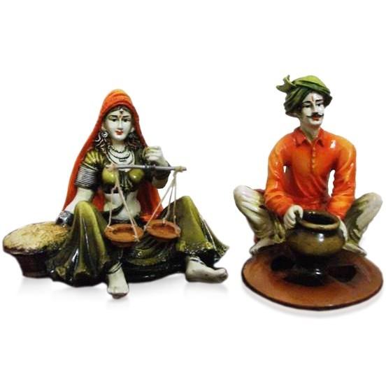 Buy Set of 2 Rajasthani Couple Online