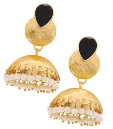 Buy Ethnic Jewelry Classy Ethnic Jhumki Earrings Black Whit jhumka online