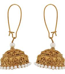 Buy Indian Bollywood Jewelry Sensual Ethnic Jhumki Earrings White jhumka online