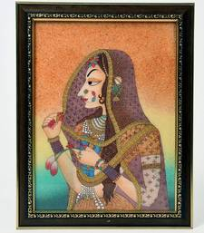 Buy World Famous Cute Bani Thani Gemstone Painting painting online