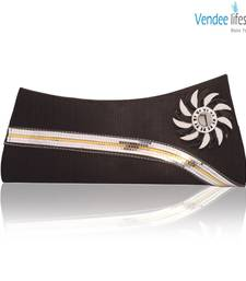 Buy Vendee Lifestyle Black Clutch for Party (7365) clutch online
