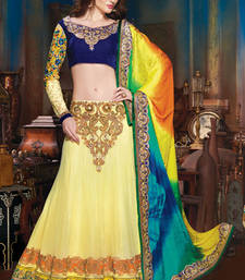 Buy Multicolor embroidered Net  lehenga-choli lehenga-choli online