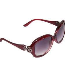 Buy 1220 MAROON Rectangular Sunglasses gifts-for-her online