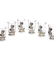 Buy Royal Glass Set with Oxidized Metal Finish home-decor online