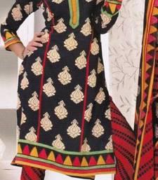Buy Crepe dress material elegant designer unstitched salwar suit d.no 8014 dress-material online