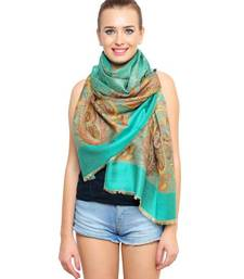 Buy Uniscarf Sea green floral Printed Modal Shawl shawl online