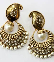 Buy ANTIQUE GOLDEN WHITE PEARLS HANGINGS Other online