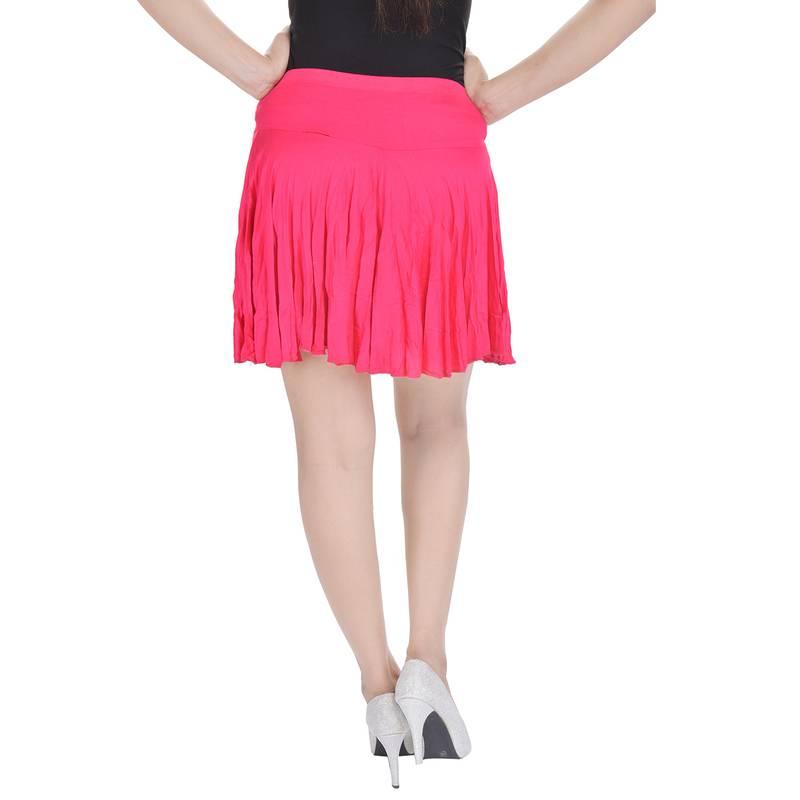 Buy cotton lycra free size mini skirt with divider online for Divider skirt images