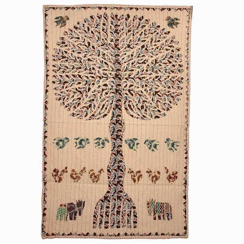 Buy elegant cloth handcrafted tree wall hanging 502 online - Cloth wall hanging designs ...