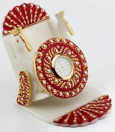 Buy Marvel In Marble - Gold Embossed Watch With Mobile Holder_60 eid-gift online
