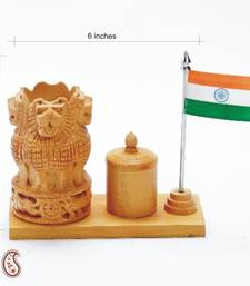Buy National Emblem Office Table Stand in White wood other-home-accessory online