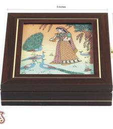 Buy Gem Casket made from Solid Wood, Stone Inlay work  jewellery-box online