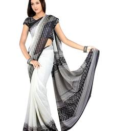 Buy Multicolor Printed Dani saree with blouse georgette-saree online