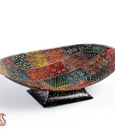 Buy Elliptical Hand Enamel Painted metal Fruit Bowl other-home-accessory online