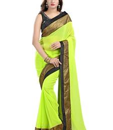 Buy bollywood designer sarees online shopping green sari madhuri-dixit-saree online