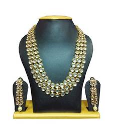 Buy Bollywood Replica Kundan Set White necklace-set online