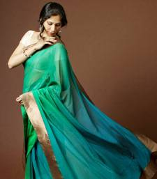 Buy 4D Ombre Saree georgette-saree online
