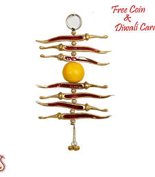 Buy Red  and  Yellow Metal Nimbu Mirchi Door Hanging diwali-silver-gift online