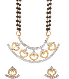 Buy Trendy Mangalsutra Set With CZ Embellishment mangalsutra online