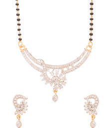 Buy Dynamic Yellow Gold Toned Mangalsutra Set mangalsutra online
