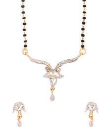Buy Single Chain Gold Tone Mangalsutra Set Dazzling Sparkle mangalsutra online