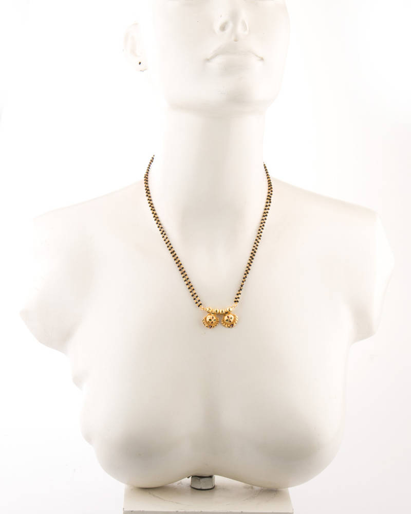 Buy Simple Floral Style Double Chain Mangalsutra Online