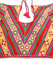 "Buy Areum kutchi hand mirror embroidered padded blouse ar2 size 38"" crop-top online"