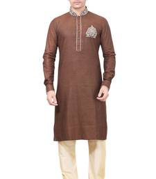 Buy Brown Pathani Suits kurta-pajama online