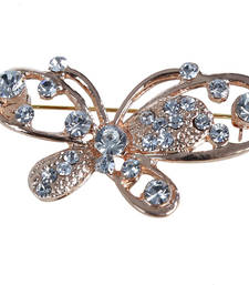 Buy Butteryfly Golden Brooch brooch online