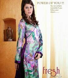Buy multicolor Printed look georgette kurtas-and-kurtis kurtas-and-kurti online