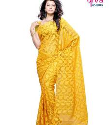 Buy Glamorous Fancy Party/Office wear Saree made from Brasso & Net (dual fabric) by Diva Fashion, Surat brasso-saree online