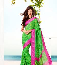 Buy Elegant Satin Saree Designer Print With Blouse Piece D.No 6001A satin-saree online