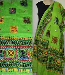 Buy Green Kutch Embroidery Duppatta stole-and-dupatta online