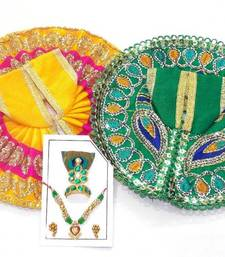 Buy 6.5'' Zari And Thread Work Poshak And Shringar religious-item online