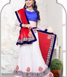Buy red net wedding  lehenga choli lehenga-choli online