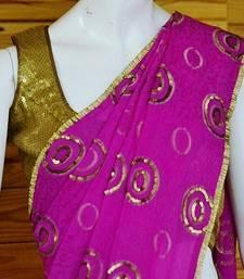 Buy ELEGANT PINK chiffon-saree online