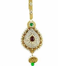 Buy Ethnic Golden Juda in Red Green Shade key-chain online