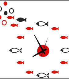Buy Vibrandz DIY Analog Wall Clock Red and Black Color wall-clock online